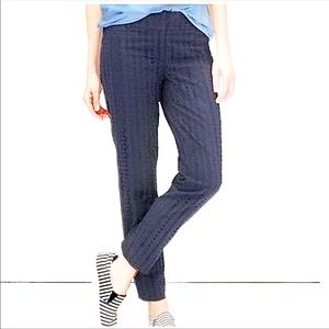 NWOT Loft Marisa navy eyelet pants 6P